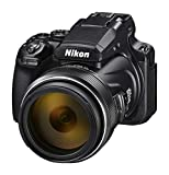 Nikon Coolpix P1000 - Cámara Bridge, Zoom óptico 125x, vídeo 4K/UHD, Bluetooth, Wi-Fi, Color Negro