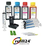 Kit de Recarga para Cartuchos de Tinta HP 303, 303 XL Negro y Color, Incluye Clip y Accesorios + 400 ML Tinta