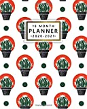 18 Month Planner 2020-2021: Weekly & Daily Calendar & Planner with Monthly Spread Views - 18 Month Organizer & Agenda with To-Do's, Notes, ... & Vision Boards - Cute Potted Barrel Cactus