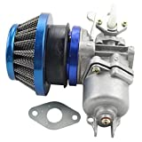 GOOFIT Azul Carburador 13 Minimoto Chino con 44mm Filtro de Aire del Combustible para Desbrozadora 2 Tiempos 43cc 47cc 49cc Scooter Pit Bike ATV Mini Quad Azul Minicross Pocketbike