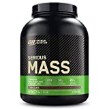 Optimum Nutrition ON Serious Mass Proteina en Polvo Mass Gainer Alto en Proteína, con Vitaminas, Creatina y Glutamina, Chocolate, 8 Porciones, 2.73 kg, Embalaje Puede Variar