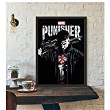 wzgsffs The Punisher Poster - Netflix TV Series Art Print Wall Art Decoración de la Pared Impresiones Art Poster Paintings For Living -50x75cm Sin Marco